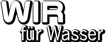 Slogan Wir für Wasser